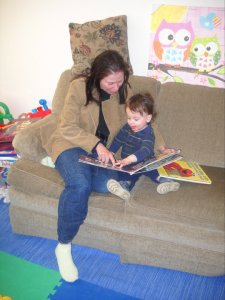 viv reading with jake