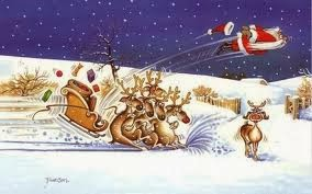 crashing sleigh