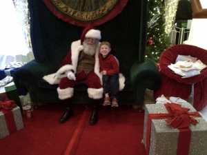 Jeremy with santa