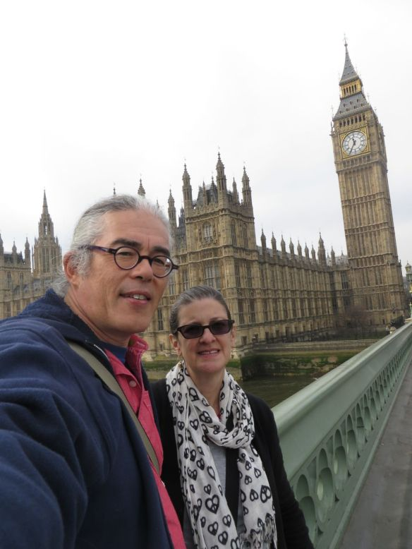 Chris Cheng and bini in London