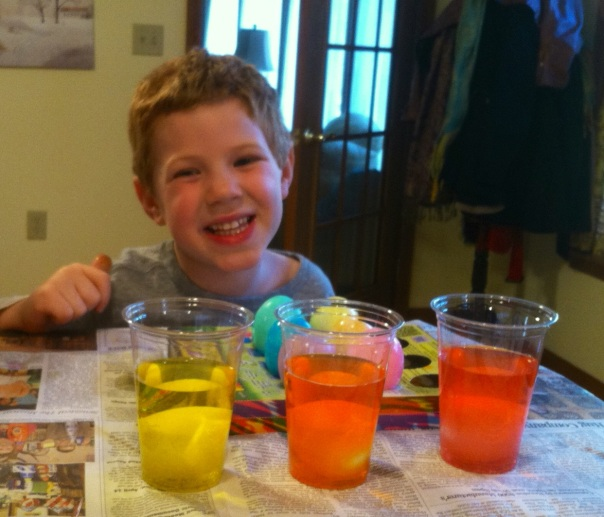 Jeremy coloring eggs 2014