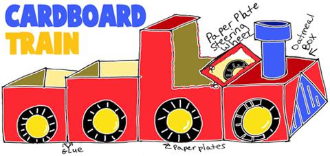 cardboard-trains