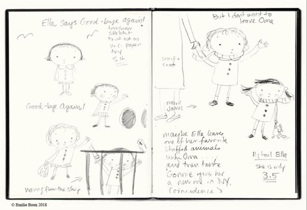 1. Ella & Monkey at Sea sketchbook