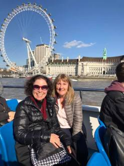 A boat ride on the Thames with Julie Abery