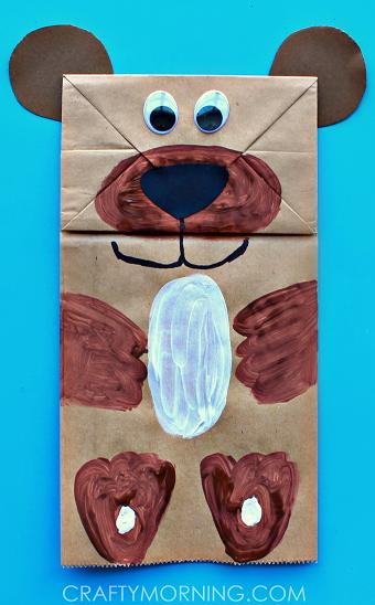 paper-bag-puppet-bear-craft-for-kids