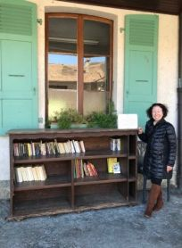 At :ott;e Free Library in Yvoire, France