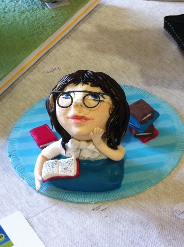A cake that looks like me at a county fair in NZ