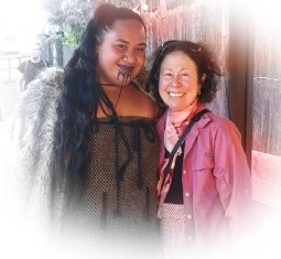A beautiful Maori woman agreed to take a picture with me