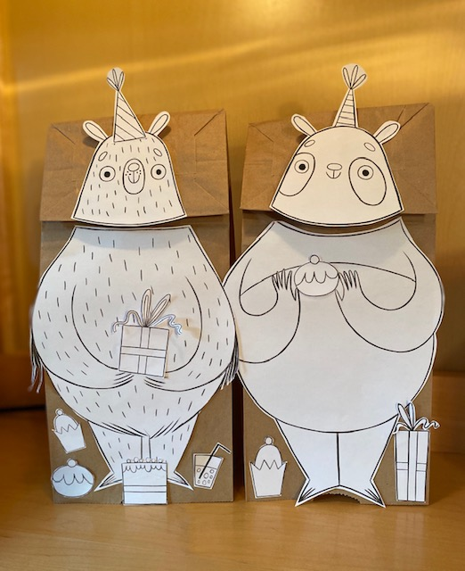 Paper bag puppets photo